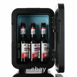 10L Portable Small Mini Fridge Bedroom Cooler Warmer In Black AC/DC Car Travel