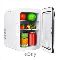 220V 12V 10L Portable Mini Fridge Freezer Cooler Refrigerator Home Office Car