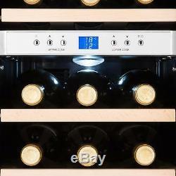 B-Stock Wine Cooler Fridge Refrigerator Drinks Chiller 12 Bottles 34 L LCD B