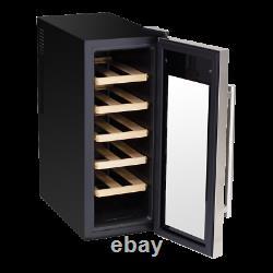 Baridi 12 Bottle Wine Cooler Fridge, Touch Screen, LED Light, Low Energy A