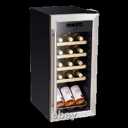 Baridi 18 Bottle Wine Cooler Fridge, Touch Screen, LED Light, Low Energy A