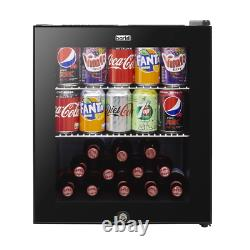 Baridi 46L Wine Beer Drinks Fridge Cooler Thermostat Lock & Key Mini Bar A Class