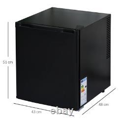 Black Compact Tabletop Fridge 50L Small Drinks Cooler Food Mini Chiller Bedroom