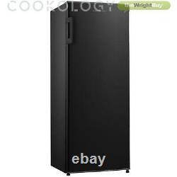 Black Tall Freestanding Larder Fridge by Cookology CTFR235BK 55x142cm Metal Back