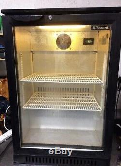 Blizzard Under counter commercial single door glass fridge bottle cooler
