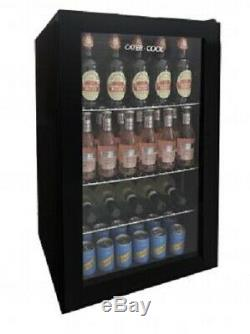 Cater-Cool CK5085 Eco Single Door Black Eco Bottle Cooler With LED Lighting