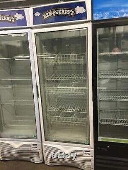 Commercial Ben & Jerry's Freezer Upright Single Door Display Ice Cream EZ30
