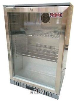Commercial Single 1 Door Bar Bottle Beer Cooler Fridge Stainless Steel Finish