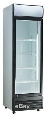 Commercial Single Door Refrigerated Merchandiser Glass Display Chiller with Canopy