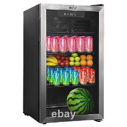 Deco Chef 118-Can Beverage Refrigerator and Cooler, Glass Door, Digital Gauge