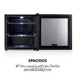 Drinks Cooler Fridge Refrigerator Bar 47 Litres energy A+ Compact Beer Black