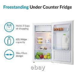 ElectriQ 62 Litre Freestanding Under Counter Fridge with Ice Box 84.5cm Tall 45