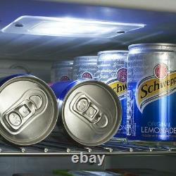 Frostbite Mini Fridge Silver 49ltr Holds 45x330ml Cans Compact Bar Fridge