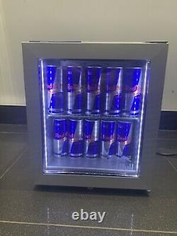 Genuine Red Bull Branded Led Illuminated Mini Fridge Holds 30cans Garage/mancave