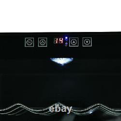 HOMCOM 16 Bottle Wine Cooler Fridge Refrigerator Mini Bar Touch Control 11-18°C