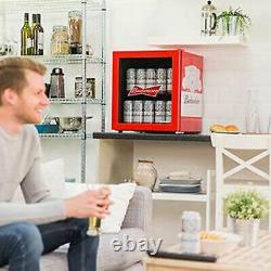 Husky Budweiser Table Top Drinks Cooler Mini Beer Fridge Glass Door 40cans HU225