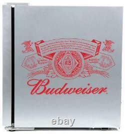 Husky Budweiser Table Top Fridge 46 litre Drinks Cooler Silver Beer Wine Bar