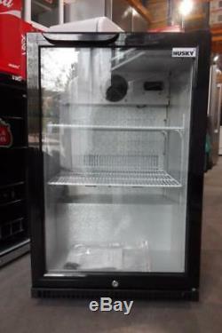 Husky C1 HUS-C1-INTEL-HU Black Single Door Commercial Bar / Drinks Fridge PWW