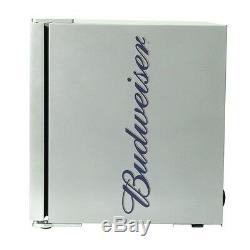Husky Free-Standing, HUS-HM72 Budweiser Mini Fridge, 43L Capacity, A+, Silver