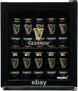 Husky Guinness Black 46 Litre Mini Table Top Fridge Drinks Can Beer Drink Cooler