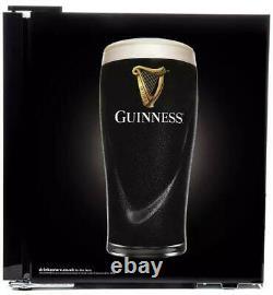 Husky Guinness Table Top Fridge 46 litre Drinks Cooler Silver Coke Beer Wine Bar