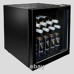 Husky HY192 -HU-SL Mini Drinks Fridge Table Top Drinks Chiller Black