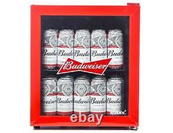 Husky Red Budweiser 46 Litre Mini Table Top Fridge Drinks Can Beer Drink Cooler