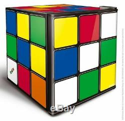 Husky Retro Rubik's Cube Drinks Table Top 43L Fridge HUS-HU231 Brand New -UK