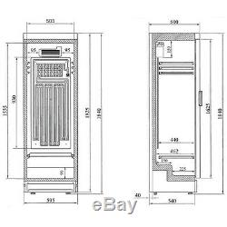 Interlevin SC381B Glass Door Fridge (Boxed New)