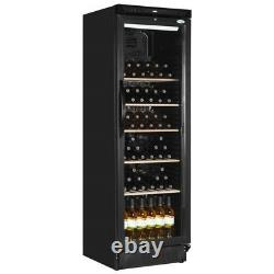 Interlevin SC381WB Upright Black Wine Cooler with Wooden Shelves (Boxed New)