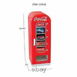 Koolatron CVF18 Coca-Cola Official Design Push Button Vending Machine Mini Fr