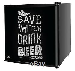Kuhla Black Save Water Drink Beer Mini Fridge 43L A+ Efficiency KTTF4BGB-1003