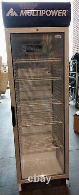 Multipower Tefcold FS1380B Glass Door Refrigerated Merchandiser with 5 Shelves