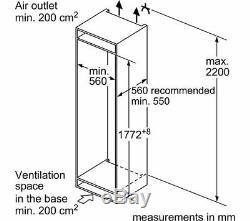 NEFF KI1813F30G Integrated Tall Fridge RRP 960.00