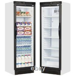 New Sc381 Single Glass Door Shop Bar Drinks Display Cooler Fridge Bottle Chiller