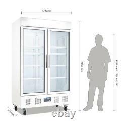 Polar G-Series Upright Double Door Display Fridge White 944Ltr