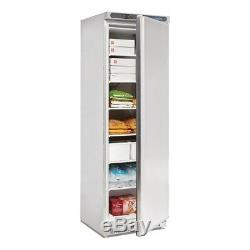 Polar Single Door Freezer with 6 Sturdy Fixed Shelves Stainless Steel 365L