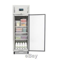 Polar Single Door Fridge Stainless Steel 600 Litre Commercial Refrigerator