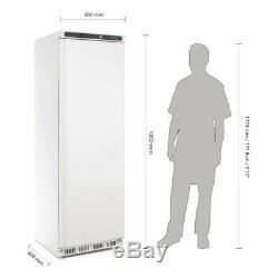 Polar Single Door Fridge in White Finish 3 Shelves and Lockable Door 400L