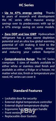 Prodis HC401FSS Stainless Steel Single Door Upright Freezer (New)