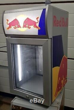 Red Bull Mini Fridge For Cold Drinks For Pub Home Garden Garage 220V-240V Led