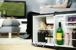 Russell Hobbs Black 45 Litre Mini Table Top Fridge Ice Freezer Beer Drink Cooler
