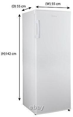 Russell Hobbs Freestanding White 142cm Tall Larder Fridge RH55LF142, Grade A