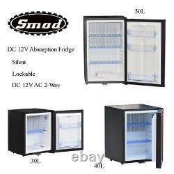 SMAD DC 12V Caravan Fridge DC AC 2-Way Camper RV Truck Cooler Quiet Minibar Lock