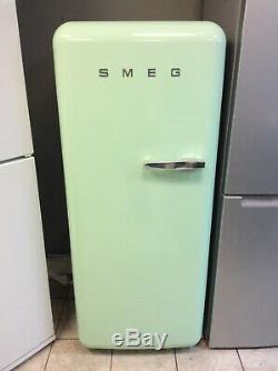 SMEG Left Hand Hinged 60cm Single Door Fridge Ice Box Pastel Green