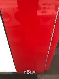 SMEG RETRO 50s STYLE RED UPRIGHT FRIDGE WITH FREEZER BOX FAB28QR1