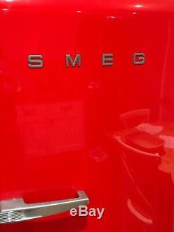 SMEG fridge freezer RED 50s Style Right Hand Fridge Icebox VGC + Manual