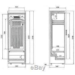 Sc381 Left Handed Single Glass Door Drinks Display Cooler Fridge Bottle Chiller