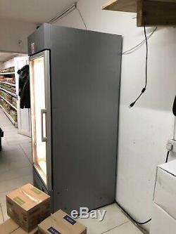 Single Door White Commercial Shop Display Freezer