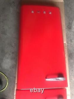 Smeg FAB32 red Fridge Freezer Doors Skin In Excellent Condition